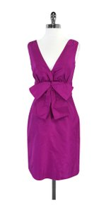 Kate Spade short dress Fuchsia Silk Sleeveless on Tradesy