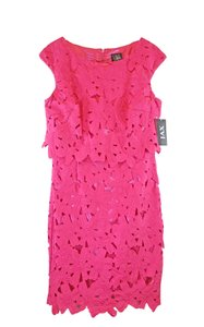 JAX Lace Crochet Neon Dress