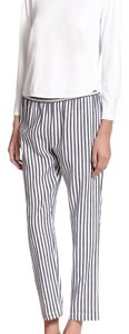 Theory Straight Pants Blue Striped