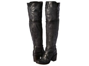FreeBird Rodeo Over-the-knee Size 7 Leather Sale Black Boots