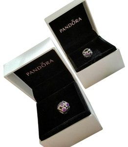 PANDORA FINAL SALE! LOT OF 2 Pandora Sterling amethyst beads