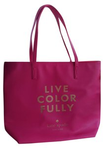 Kate Spade Saffiano Michael Kors Louis Vuitton Gucci Tote in Pink and Orange