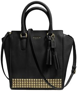 Coach Legacy Mini Tanner Gold Studded Leather Cross Body Bag