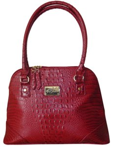 Marc Fisher Embossed Crocodile Faux Leather Satchel Handbag Shoulder Bag