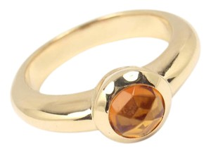 Tiffany & Co. Vintage Tiffany & Co 18K Gold Faceted Citrine Ring France Size 6.5
