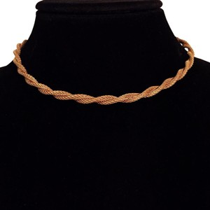 Sarah Coventry vintage Sarah Coventry tube mesh choker necklace gold tone