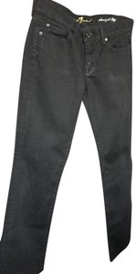 7 For All Mankind Straight Pants Black