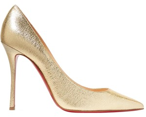 Christian Louboutin 100mm gold Pumps