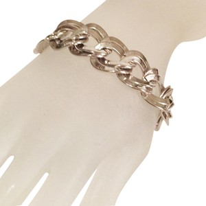 MONET stainless steel heavy oversized chain bracelet by monet
