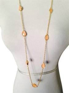 Amrita Singh Faceted Peach 9 Station Necklace