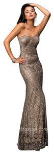 Scala Sequin Formal Strapless Metallic Dress