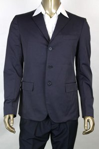 Bottega Veneta Blue Men's Navy 3-button Blazer Jacket It 52/Us 42 282667 4014 Groomsman Gift