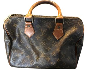 Louis Vuitton Speedy Classic Monogram Satchel in Brown