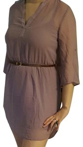 JustFab short dress Dusty Lilac Hi-low Shirt Tunic on Tradesy