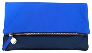 Clare V. Blue & Black Clutch