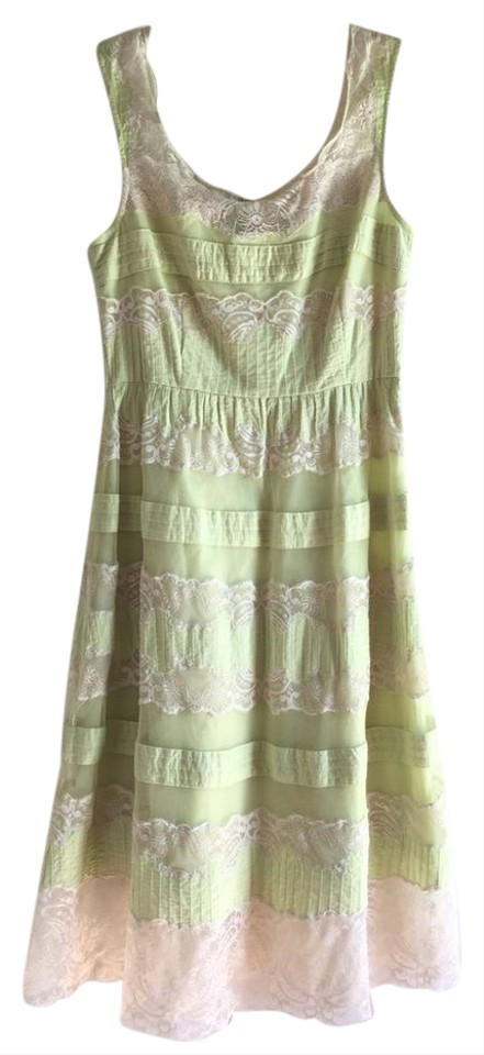 85ea7b2d00a Anthropologie Mint Green Lithe Layered Lace Knee Length Short Casual ...