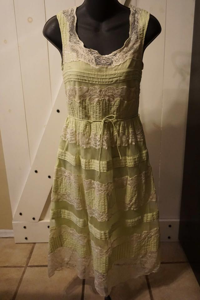 e295bde8504 Anthropologie Mint Green Lithe Layered Lace Knee Length Short Casual Dress  Size 2 (XS) - Tradesy
