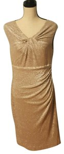 Ralph Lauren Shimmer Gathered Dress