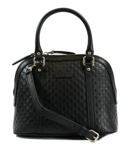 Gucci Crossbody Handbag 449654 Handbag Satchel in Black Guccissima