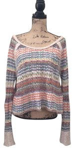 Free People Boat Neck Off The Cropped Sweater