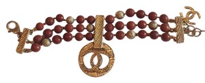 Chanel 16a 2016 golden red bracelet