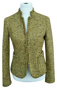 J.Crew Tweed Two-tone Herringbone Green and brown multi color Jacket