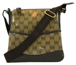 Gucci 374416 Messenger Handbag Brown Messenger Bag