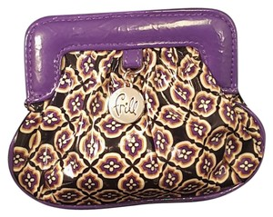 Vera Bradley Vera Bradley Frill Coin Purse Black Purple