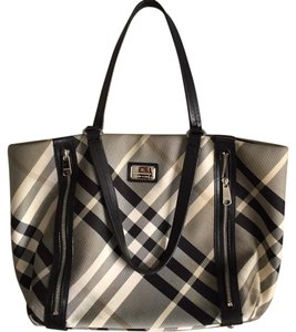 Burberry Blue Label Tote in Black and white