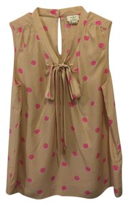 Kate Spade Polkadot Bow On Trend Sale Top nude and pink