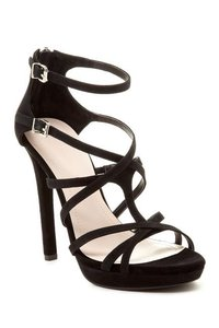 BCBGeneration Strappy Suede Black Sandals