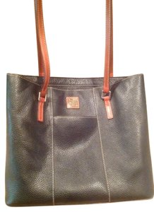Dooney & Bourke Lexington Tote in Black with brown trim