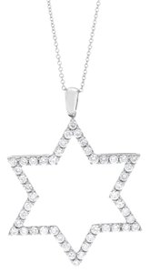 Other 1.13 CT Natural Diamond Star of David Pendant with Chain in Solid 18k