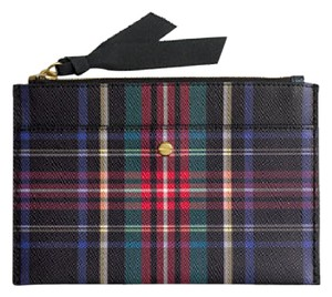 J.Crew Tartan Leather Stewart Plaid Clutch
