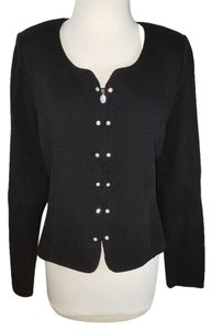 St. John Jeweled Buttons Black Blazer