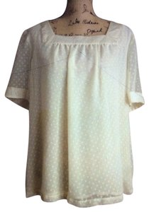 Apt. 9 Sheer Lined Xl Top Cream