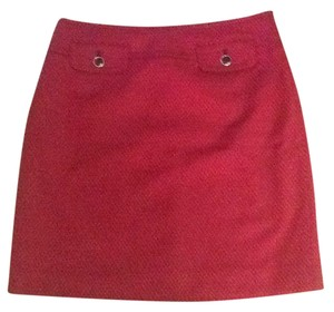 Ann Taylor LOFT Mini Skirt Pink/Black