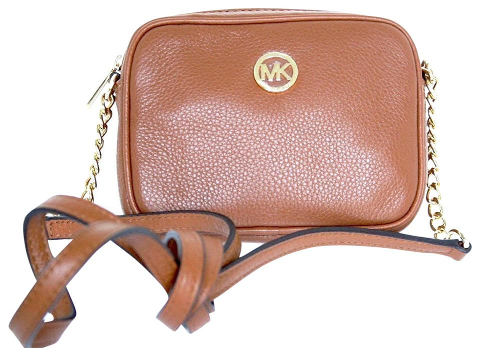 a712b5024a76 Michael Kors Fulton Small Luggage Leather Cross Body Bag - Tradesy