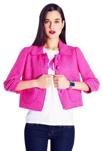 Kate Spade Sale Tweed On Trend Day To Night Wear To Work pink Jacket