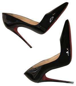 Christian Louboutin Leather Patent Leather So Kate Black Pumps