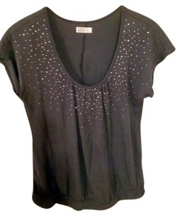 Old Navy Women Clothing Blouse Size L & Silver Top Gray