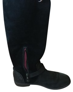 UGG Australia Ugg Leather Suede Black Boots