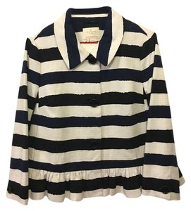 Kate Spade Nautical On Trend Lightweight blue striped Jacket