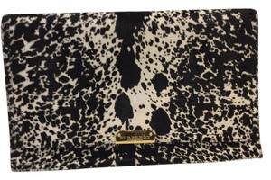 Burberry Prorsum Black and white animal printed hide Clutch