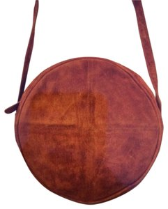 Ruth Saltex Vintage Round Distressed Suede? Cross Body Bag