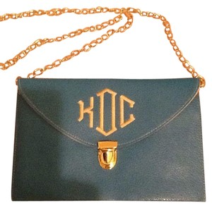 Chain Blue Clutch