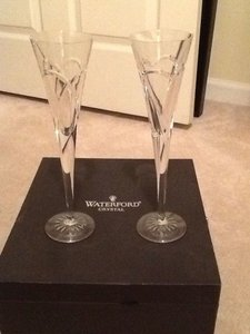 Wishes Love And Romance Wedding Crystal Toasting Flutes