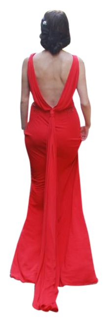 Badgley Mischka Red Gown Long Formal Dress Size 0 (XS) Badgley Mischka Red Gown Long Formal Dress Size 0 (XS) Image 1