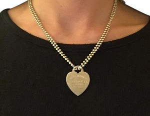 Tiffany & Co. Heart Tag Pendant w/Extended 34in Chain