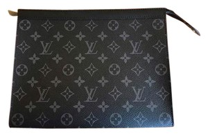 Louis Vuitton Evening Eclipse Eclipse Monogram Wallet Black Clutch